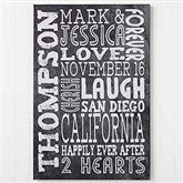 Just Us Personalized Canvas Print- 24