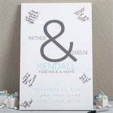 Forever & Always Wedding Signature Personalized Canvas Print 16