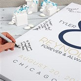 Forever & Always Wedding Signature Personalized Canvas Print 20