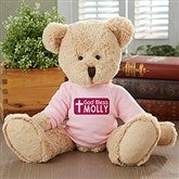 God Bless Personalized Teddy Bear- Pink - 16738-P
