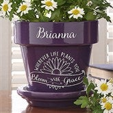 Inspiration to Grow Personalized Flower Pot- Purple - 16739-P
