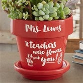 Seeds of Knowledge Personalized Flower Pot- Red - 16740-R