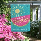 Simply Summer Personalized Garden Flag - 16753