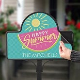 Simply Summer Personalized Magnetic Garden Sign - 16757-M