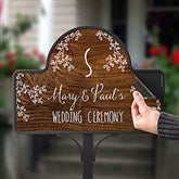 Our Rustic Wedding Personalized Garden Stake- Magnet Only - 16758-M