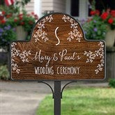 Our Rustic Wedding Personalized - Garden Stake With Magnet - 16758-S