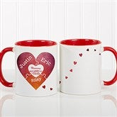 We Love You To Pieces Personalized Photo Coffee Mug 11oz.- Red - 16762-R