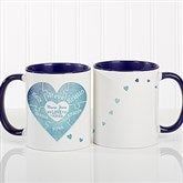 We Love You To Pieces Personalized Photo Coffee Mug 11oz.- Blue - 16762-BL
