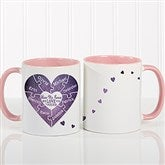 We Love You To Pieces Personalized Photo Coffee Mug 11oz.- Pink - 16762-P