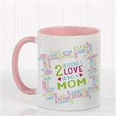 Reasons Why For Her Personalized Photo Coffee Mug 11oz.- Pink - 16763-P