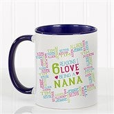 Reasons Why For Her Personalized Photo Coffee Mug 11oz.- Blue - 16763-BL