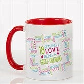 Reasons Why For Her Personalized Photo Coffee Mug 11oz.- Red - 16763-R