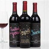 Congratulations Personalized Wine Bottle Labels - 16773-T