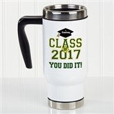 Cheers To The Graduate Personalized Commuter Travel Mug - 16774