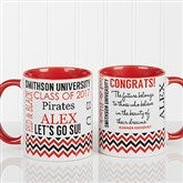School Memories Graduation Personalized Coffee Mug- 11 oz.- Red - 16775-R