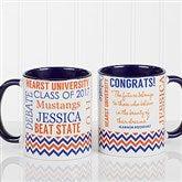 School Memories Graduation Personalized Coffee Mug 11 oz.- Blue - 16775-BL