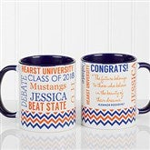 School Memories Graduation Personalized Coffee Mug 11 oz.- Blue - 16775-BL