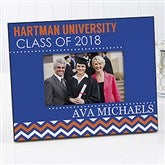 School Memories Personalized Graduation Chevron Picture Frame - 16776