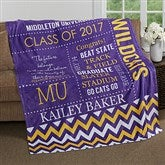 School Memories Personalized Graduation 60x80 Fleece Blanket - 16782-L