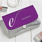 Stylish Monogram Personalized Wristlet