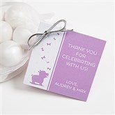 Baby Zoo Animals Shower Personalized Party Gift Tag - 16823