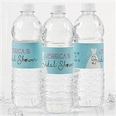 The Dress Bridal Shower Personalized Water Bottle Labels - 16825