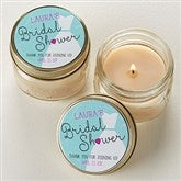 The Dress Bridal Shower Personalized Mason Jar Candle Favors - 16831