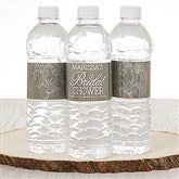 Rustic Bridal Shower Personalized Water Bottle Labels - 16835