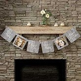 Rustic Bridal Shower Personalized Photo Paper Banner - 16838