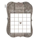Rustic Bridal Shower Personalized Bingo Cards - 16842