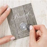 Rustic Bridal Shower Personalized Scratch Off Game - 16843