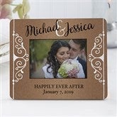Rustic Chic Wedding Personalized Mini Favor Frame - 16847
