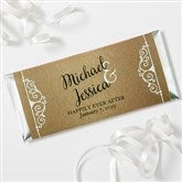 Rustic Chic Wedding Personalized Candy Bar Wrappers - 16848