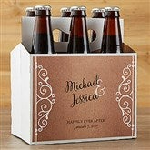 Rustic Chic Wedding  Personalized Beer Bottle Carrier - 16849-C