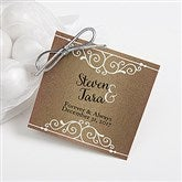 Rustic Chic Wedding Personalized Gift Tags - 16850