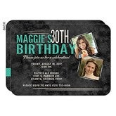 Vintage Age Personalized Birthday Party Invitations - 16851
