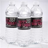 Vintage Age Birthday Personalized Water Bottle Labels - 16852