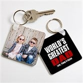 Best. Dad. Ever. Personalized Photo Keychain - 16858