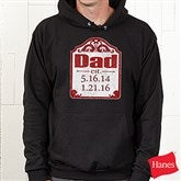 Date Established Personalized Black Adult Sweatshirt - 16860-BS