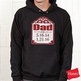 Date Established Personalized Black Adult Sweatshirt - 16860-BS