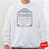 Date Established Personalized Adult Sweatshirt - 16860-S