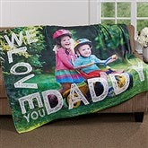 Loving Him Personalized 50x60 Fleece Photo Blanket - 16863