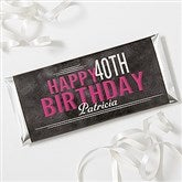 Vintage Age Birthday Personalized Candy Bar Wrappers - 16871