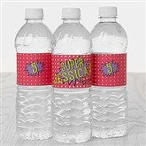 Super Hero Birthday Personalized Water Bottle Labels - 16874