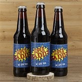 Super Hero Personalized Beer Bottle Labels - 16879