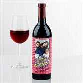 Super Hero Personalized Photo Wine Bottle Label - 16880