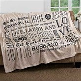 Our Life Together Personalized 50x60 Fleece Blanket - 16882