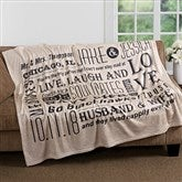 Our Life Together Personalized 60x80 Fleece Blanket - 16882-L