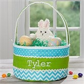 Easter Fun Personalized Blue & Green Soft Easter Basket - 16888-B