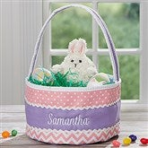 Easter Fun Personalized Pink & Purple Soft Easter Basket - 16888-P
